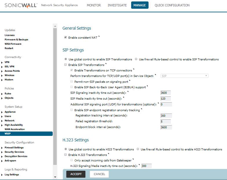 SonicWall TZ-SOHO — FusionPBX Docs master documentation